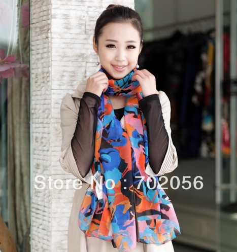 All match artificial silk horse print shawl scarf wraps 170*70cm mixed color 10pcs/lot #2836