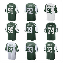 Youth's Jamal Adam Joe Namath Leonard Williams Matt Forte Muhammad Wilkerson Nick Mangold Eric Decker Custom Jets Youth Jersey(China)