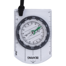 Plastic 7 x 4.7cm Mini Baseplate Compass Map Scale Ruler Outdoor Camping Hiking Cycling Scouts Military Compass free shipping