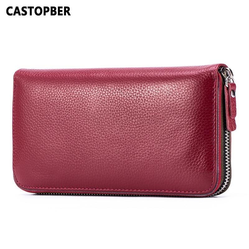 Designer Wallets Famous Brand Women Wallet Cowhide Genuine Leather Fashion Long Wallets Clutch Zipper Purse High Quality Ladies<br>