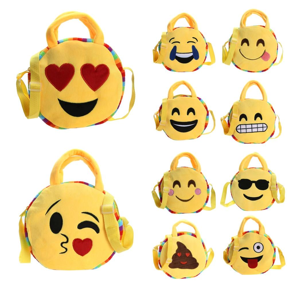2017 New Fashion Face Expression School Bags Plush Toy Children Bag for Teenage Girls Schoolbag Emoji Bcakpcaks Mochila <br><br>Aliexpress