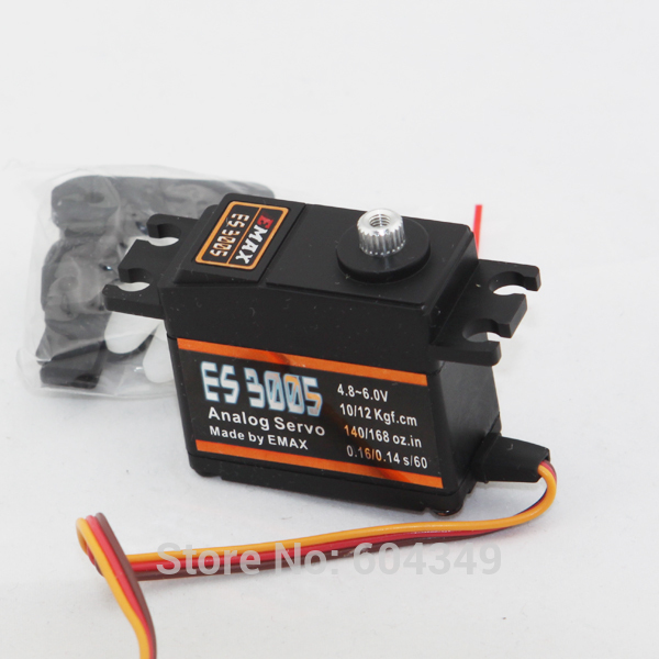 EMax ES3005 42g Metal Analog Servo for RC Car Boat Fixed-wing Copters<br><br>Aliexpress