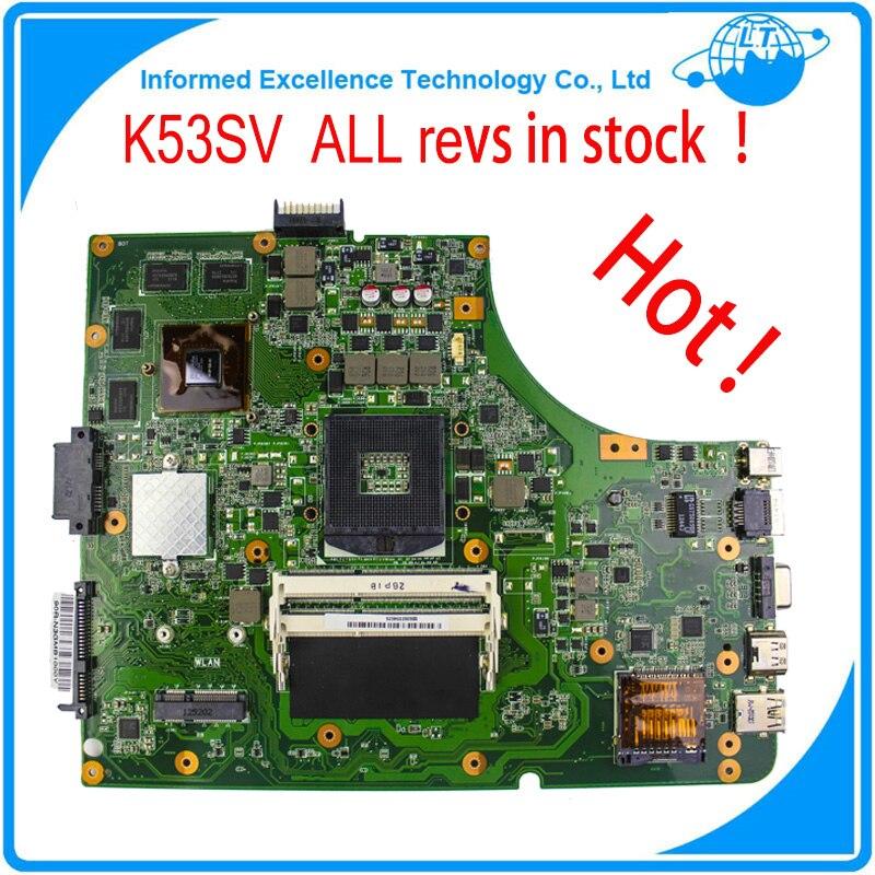 Original Laptop Motherboard K53SV REV : 3.0 3.1 2.3 2.1 Fit For ASUS K53S A53S X53S P53S Notebook N12P-GS-A1 GT 540M<br>
