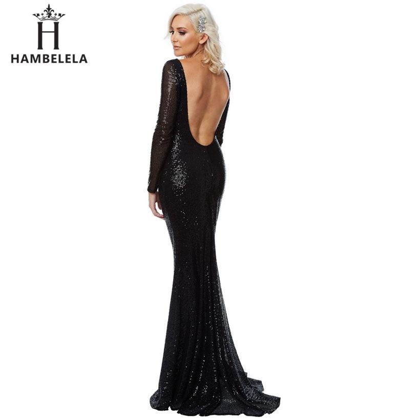 ... HAMBELELA Elegant O-Neck Long Sleeve Paillette Sequin Bling Bodycon  Mermaid Dress Women Wedding Party ... 3a74e9ed342e