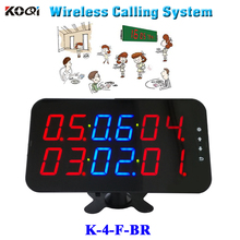 Ycall Restaurant order device high quality new touch screen wireless calling call pager display K-4-F-BR(China)