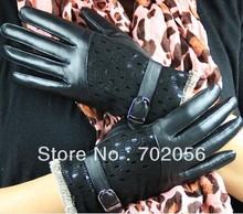 ladies Genuine Leather gloves skin gloves LEATHER GLOVES mixed color 12pairs/lot #3126