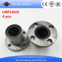 4pcs/lot LMF16UU flange linear bearing 16mm flange linear motion bearing series cnc parts