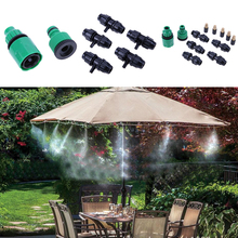 5M hose 5pcs Spray Head and Nylon bundled Wire Outdoor Garden Misting Cooling System Mist Nozzle Sprinkler water kits system(China)