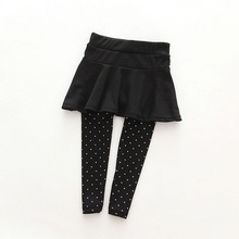 Toddler Girl Wool Culotte Render Pants Kid Child Black Pink Legging Trousers Pant Skirt Baby Clothes