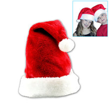 New Velvet Plush Santa Claus Hat Comfort Liner Christmas Xmas Costume Holiday Topper(China)