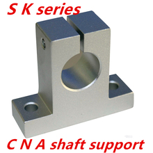 SK20 2 pcs/lot SK20 SH20A 20mm linear shaft support 20mm Linear Rail Shaft Support XYZ Table CNC parts(China)