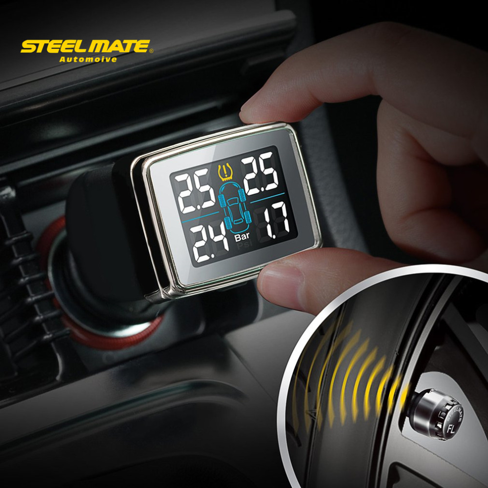 Steelmate TP-79 Tire Pressure Monitoring Detector DIY TPMS CIG Plug Diverter Wireless Transmission Adjustable LCD Display(China (Mainland))