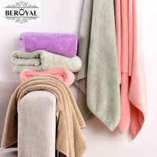 Beroyal Brand 2pc/lot 70*140cm microfiber Plush bath towel for adult magic towels bathroom quick-dry beach towel brand towel