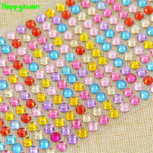 Happyxuan 5sheets/pack 260 pcs 6mm Mosaic Crystal Diamond Stickers Children Handmade Craft Materials for Girls  Funny Toys