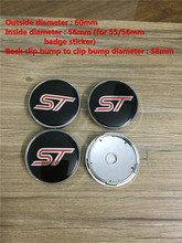 High quality 4pcs/lot 60mm ST car wheel center cover hub cap emblems badge for ford cars accessories free shipping
