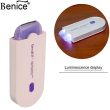 Advanced Sense-Light Technology portable Women Instant Pain Free Rechargeable Hair Remover full bodyEpliator razor urtra-light35
