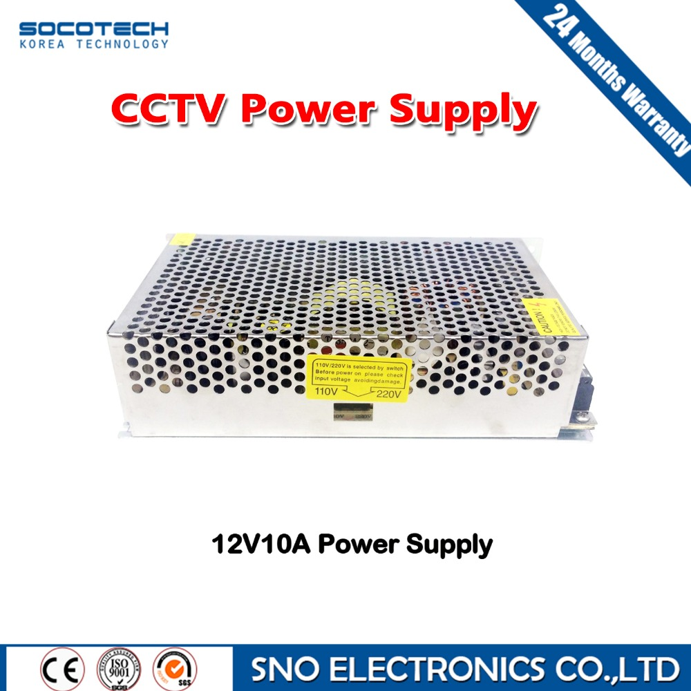 Socotech High Quality 12V 10A 120W Switch Switching Power Supply for CCTV camera for Security System 110-240V<br><br>Aliexpress