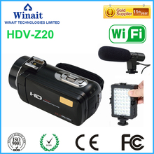 rechargeable lithium compact digital video camera HDV-Z20 1080P full HD max 24mp with 3.0'' touch display