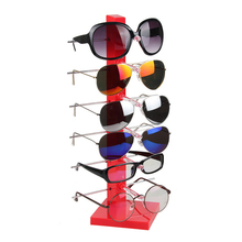 High Quality Plastic Sunglass Display Rack Shelf 6 Pairs Eyeglasses Showing Stand Jewelry Holder Glasses Display Props Frame