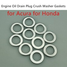 new coming 10 pieces Engine Oil Drain Plug Crush Washer Gaskets 94109-14000 for A/cura H/onda(China)