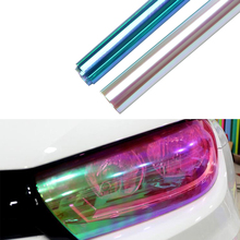 30*120cm Tint Vinyl Film Car Stickers Auto Light Film Headlights Taillights Translucent Cover Chameleon Protective Car Styling(China)