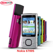 Original Unlocked Nokia 6700S mobile phone Single Core Bluetooth FM JAVA 5MP 3G 6700 Slider cell phone(China)