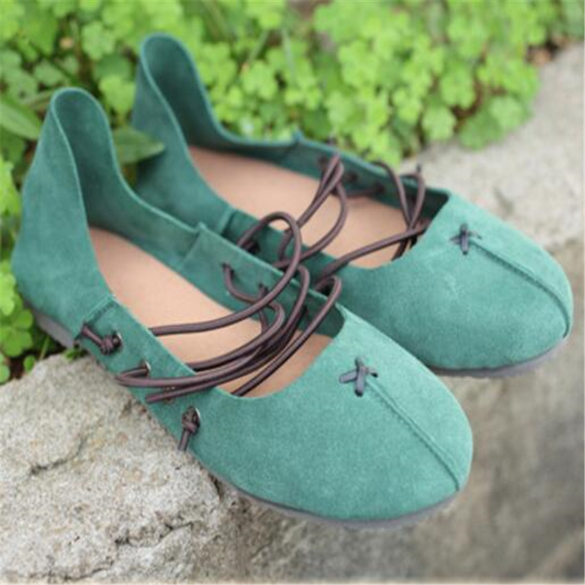 Women Casual Shoes Spring soft bottom shoes ballet shoes handmade Genuine leather shoes <br>