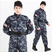 Tactical US Army Camouflage Combat Uniform ACU Multicam Sea Digital Camo Military Clothing Set Airsoft Outdoor Jacket + Pants