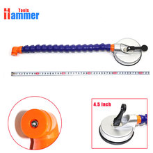 PDR 4.5inch Hand Pump Suction Cup with plastic holder flexible gooseneck pipe for LED lamp(China)