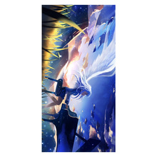 Angel Beats Pattern Multifunctional Use Baby Bath Towels Women Hand Face Hair Drying Soft Bamboo Fiber Towel 35*70cm
