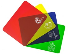Cutting Boards, Set of 4 flexible Color coded chopping mats(China)