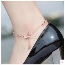 JL012 Fashion rose gold anklets crystal bell anklets retro little girl jewelry wholesale simple accessories