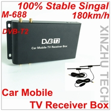 Global 4 Mobility Chip Car DVB-T2 Tuner Speed Stable At 180km/h High Quality Digital Car Receiver M-688 Digital TV Receiver