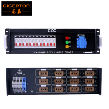 Gigertop Power Supply Ditributor Box 12 Road 4KW 32A Air Switch Overload Delixi 12 Way Power Output 40A EU Plug Bunker CE ROHS(China)