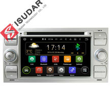 Two Din 7 Inch Android Car DVD Player Audio For Ford/Focus/Mondeo/Kuga With Quad Core 1.6GHZ Wifi GPS Radio Bluetooth Free Map