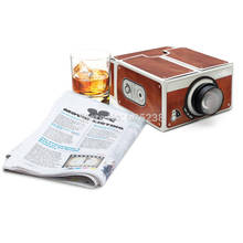 1Piece Novelty Projector Portable Cinema DIY Cardboard Smartphone Projector 2.0(China)