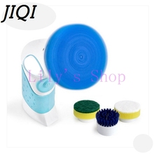 JIQI Handle electric multifunction household dishwashing brush Pot Cleaner Dishes cleaning brush Tile Bathtub Kitchen Dishwasher(China)