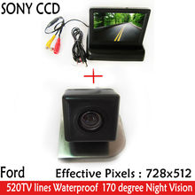 "HD Video Auto Parking 4.3"" Foldable Monitor+ LED Night Vision Reverse SONY CCD Car Camera for Ford 2012 Focus Hatchback / Sedan(China)"