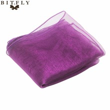 "New Purple 12""x108"" Organza Table Runner Wedding Party Supply Decoration Hot(China)"