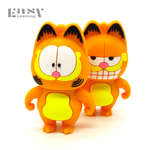 Easy Learning Cartoon USB 2.0 Lovely Garfield Cat Usb Flash Drives 4GB 8GB 16GB 32GB 64GB Pen Drive Pendrives Memory Usb Sticks