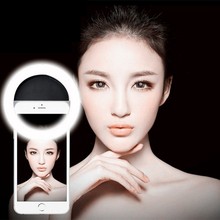 Rechargeable 36 LED Selfie Ring Light 3 Brightness Levels Fill Light Up Photography Phone Flash Ring Light For Mobile Phone(China)