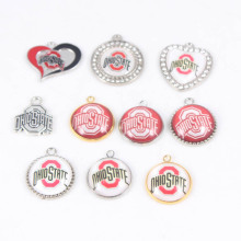 Wholesale American Football OHIO STATE BUCKEYES Team Enamel Charm USA DIY Dangles Charm For Jewelry Making Bracelet or Necklace