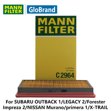 MANNFILTER  air filter  C2964  for SUBARU OUTBACK 1/LEGACY 2/Forester/Impreza 2/NISSAN Murano/primera 1/X-TRAIL/Teana auto parts
