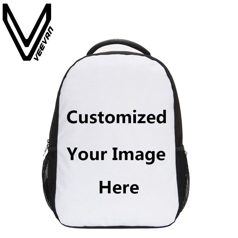 VEEVANV Brand 2017 Customized 3D Printing Backpack Men