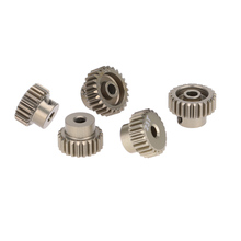 Aluminum 7075 GoolRC 48DP 21T 22T 23T 24T 25T Pinion Motor Gear Combo Set for 1/10 RC Car Brushed Brushless Motor RC Spare Part(China)