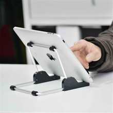 For apple iPad stand Aluminum foldable universal tablet Stand,Holder for apple ipad stand for samsung tablet,tablet mount(China)