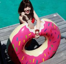 90CM Summer Inflatable Swim Ring Life Buoy Swimming Ring Armpit Swimming Laps with Air pump