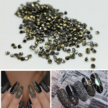1.2mm 1440pcs/bag Nail Art Micro Rhinestones Sharp bottom Nails Accesories Decorations for Coffin Nails