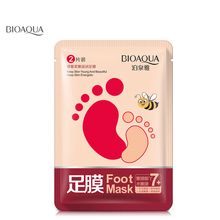 Bioaqua 1pair Foot Care Honey For Feet Exfoliating Foot Mask Moist Hydrating Hand Lotion Peeling Foot Spa Socks(China)