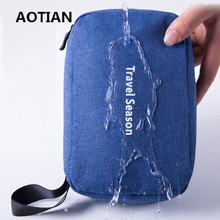 AOTIAN 2017 Nylon Waterproof Travel Wash Cosmetic Bag Portable Portable Large Capacity Can Be Suspended Finishing Bag(China)